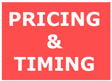 PRICING & TIMING
